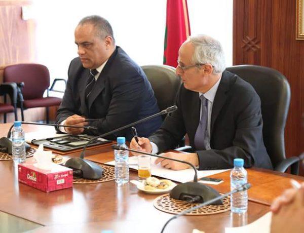 Monsieur Abdeahad Fassi Fihri reçoi le president de la FNPI Monsieur Taoufik KAMIL